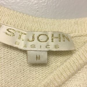 St. John Tops - St. John Basic Santana Knit cream colored tank top
